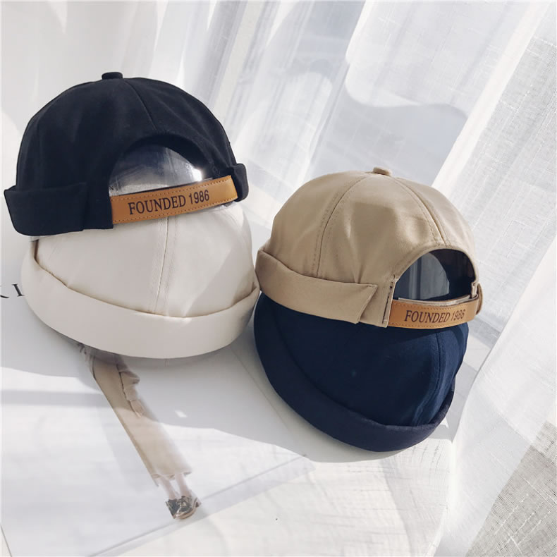 All Season Male Common Outdoor Leisure Korea Letter Printing Vintage Cotton Cap