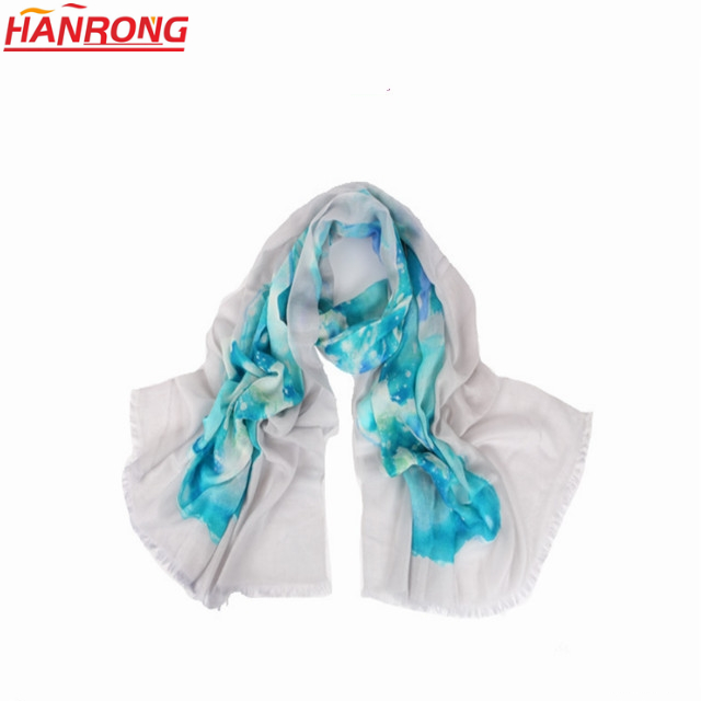 Italy New Digital Printing Pure Long Comfortable Shawl Cashmere Scarf