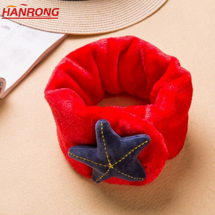 Hotsale New Autumn Winter Fashion Big Star Pure Color Children Leisure Wool Neck Scarf