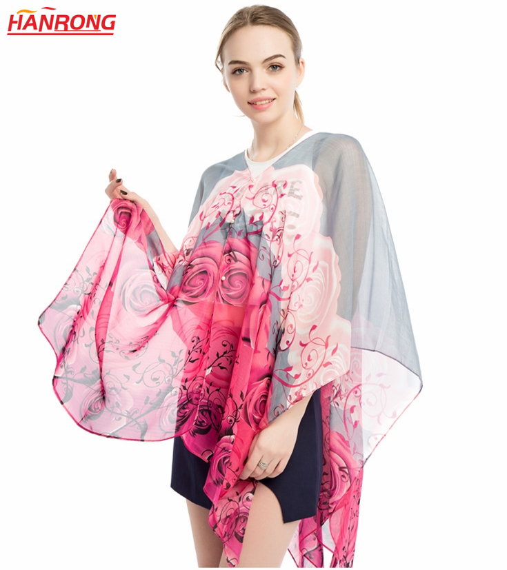 Summer Outside Travel Hiking Sunscreen Transparent Cooling Light Viscose Scarf 145x90cm