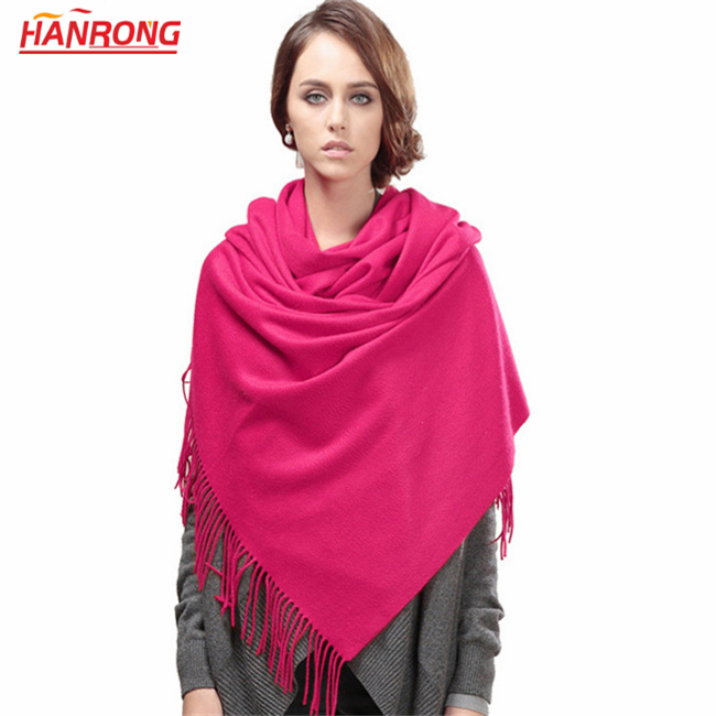 Winter New Keep Warm Stars Loves No Dyeing Water Ripple Fringe Pashmina and Wool Blended Shawl Scarf