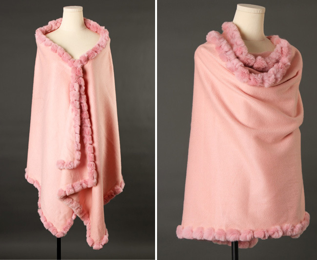 Top Quality Custom Women Animal Fur Stitching Thicken Keep Warm Luxuriant Cashmere Pashmina Shawl