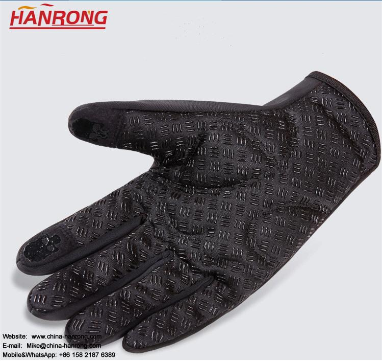 Men Classic Warmer Touch Screen Gloves Thicken Waterproof Diving Cloth Gloves Wholesale
