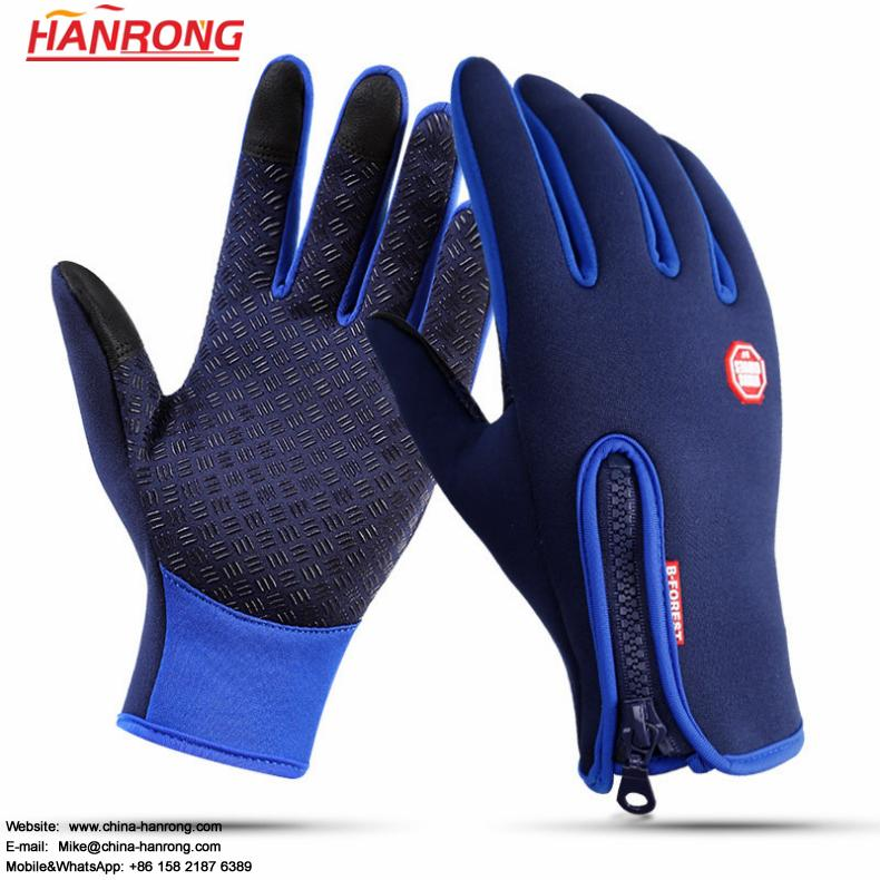 Winter Keep Warm Touch Screen Thicken Waterproof Non-slip Diving Cloth Skiing Gloves