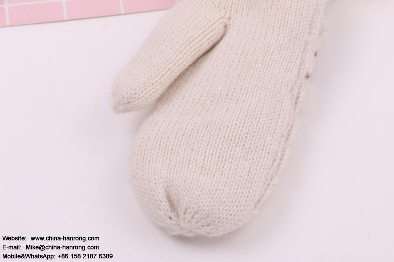 New Students Keep Warm Thickening Gloves Jacquard Lovely Wool Knitting Gloves